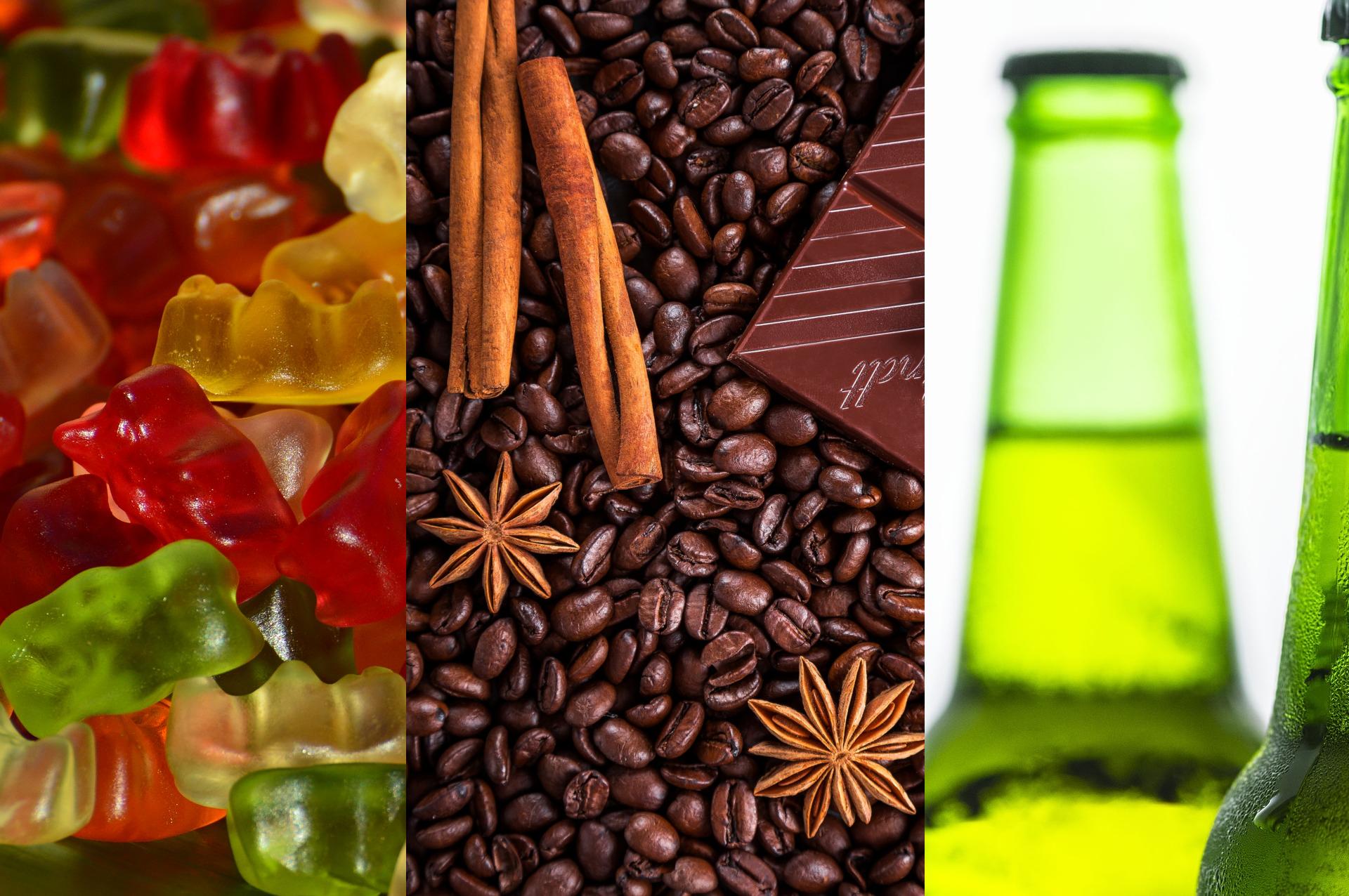 Słodycze, napoje i soki, kawa, herbata